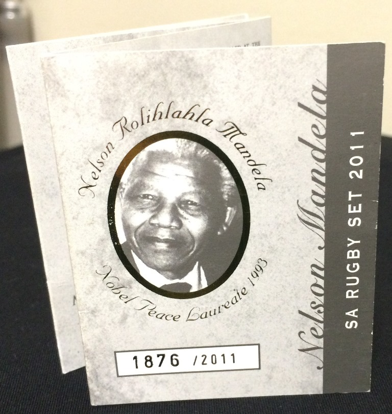 NELSON MANDELA RUGBY COIN SET R18500 (5)
