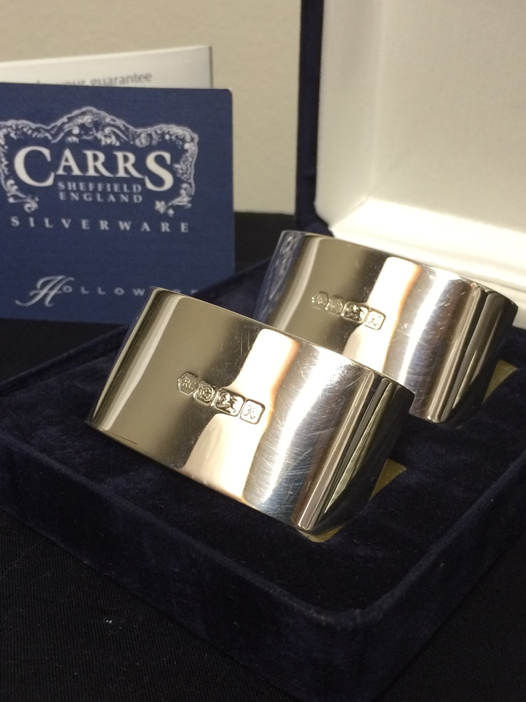 carrs sheffield england 925 silver napkin holders tw 63.2gr R2500 (3)