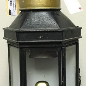 BRASS KEROSENE WALL MOUNT LANTERN (2)