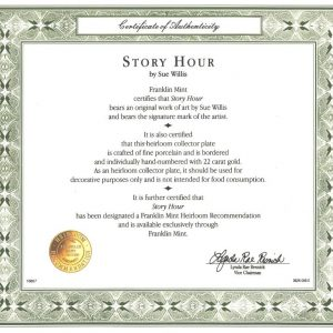 CERTIFICATE STORY HOUR