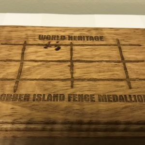 WORLD HERITAGE ROBBEN ISLAND FENCE MEDALLION (1)