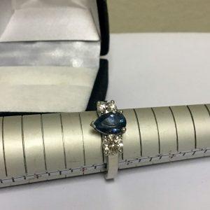 PT AQUAMARINE DIAMOND RING (3)