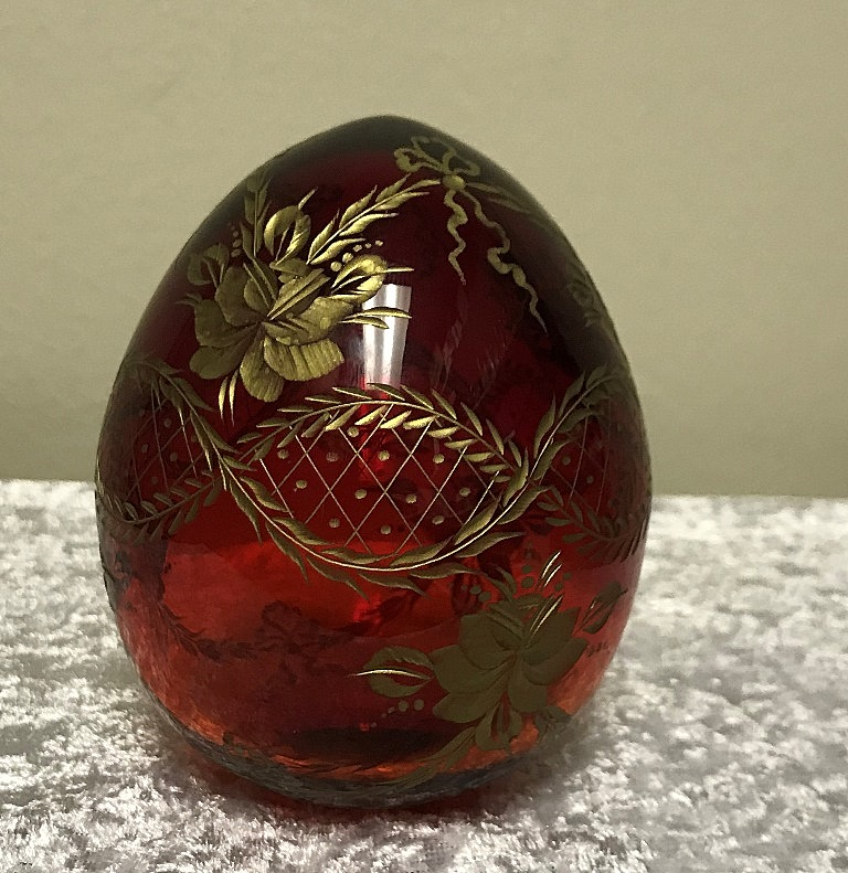 RED FABERGE EGG (3)