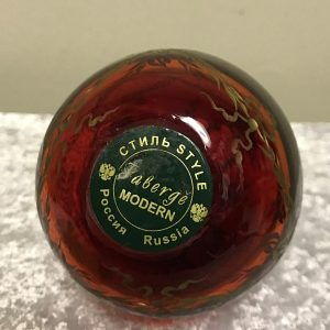 RED FABERGE EGG (5)