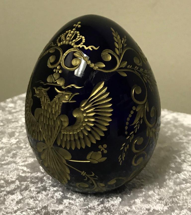 cobalt blue faberge egg (2)