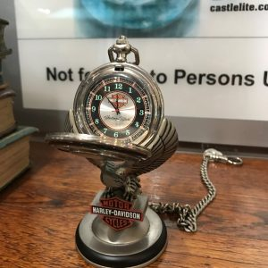 HARLEY DAVIDSON POCKET WATCH ON STAND (1)