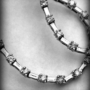 WHITE GOLD DIAMOND EARRINGS (3)