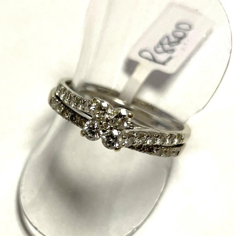 WHITE GOLD DIAMOND WEDDING SET S7981A R8800 (2)