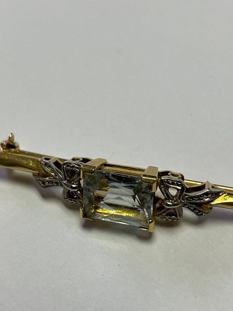 GOLD AND AQUA BAR BROOCH S8207C R4800 (6)